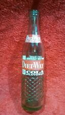 "RARE Vintage ""DIET~WAY"" COLA 10 oz. Green Glass SODA BOTTLE ~  Chattanooga, TN."