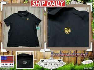 Official UPS United Parcel Service Employee Uniform Work Polo Shirt Men XLarge🔥