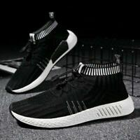 2019 New Men's Fashion woven shoes and Coconut sports shoes high socks shoes sz