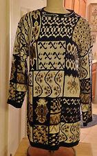Huntington Ridge AcrylicTunic Sweater W/Gold Intertwined Stiching Size Large USA