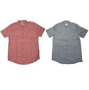 Adidas Top Mens Short Sleeve Casual Camp Shirt Button Down Many Colors Thru 4XLT