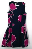 Anne Klein Women's Size 8 Polyester/Elastane Blend Sleeveless Fitted Dress Navy