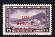 Panama 1947 stamp Mi#343 MNH inverted overprint
