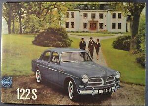 1961 Volvo 122S Sedan Catalog Sales Brochure B16 Excellent Original 61