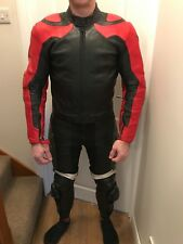 Dianese two piece leathers - red & black - size 48