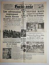 N1081 La Une Du Journal Paris-soir 3 Août 1936 Silvère maes