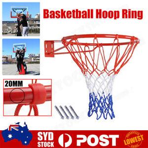 Basketball Hoop Ring Goal Net Wall Mounted Rim Dunk Shooting Pro Size 45cm AU