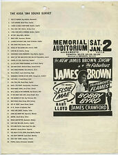 JAMES BROWN & The Famous Flames BOBBY BYRD ORIGINAL 1965 Concert Handbill Flyer
