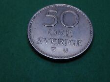 50 Öre 1967 Sverige Schweden Münze Zahlungsmittel Münzen