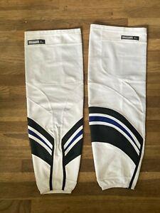 Tampa Bay Lightning Game Used White Alternate Pro Stock Socks Reebok XL NHL