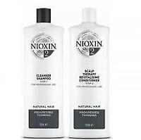 Nioxin System 2 Cleanser & Scalp Therapy for Fine Thinning Hair 33.8 oz NEW PACK
