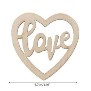 15Pcs Wooden Love Table Confetti Scatter Vintage Rustic Wedding Party Decor
