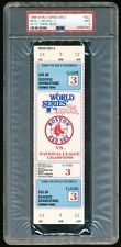 1986 World Series Game 3 Full Ticket PSA 9 Mint Mets~Red Sox Fenway Park