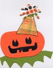 2x Die Cut Sizzix Halloween shape *KITS* - PUMPKIN TOY WITH HAT / JACK O LANTERN