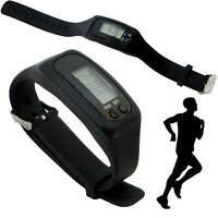 Pedometro Nero orologio digitale LCD polso running corsa sport conta passi PDCP