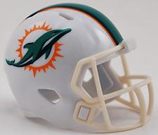 Miami Dolphins Nfl Cupcake / Cake Topper Mini Football Helmet