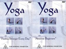 YOGA 2 PACK - ABSOLUTE BEGINNERS & FEELING STRONGER EVERYDAY - YOGI MARLON NEW