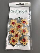 Crafty Bitz Heart Shaped Embellishments