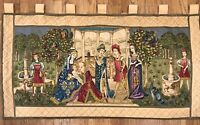 "Religious Scene Antique French European Tapestry Large Wall Hanging 54""w x 28"" h"