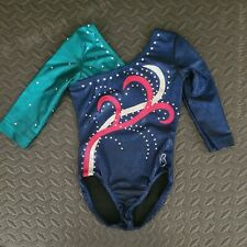 Girls (S5/6) 3/4-Sleeve Competition Gymnastics Leotard w/ Bling - Bee Leotards