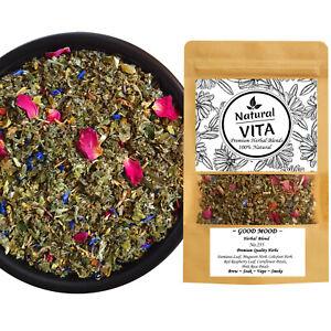GOOD MOOD Herbal Blend Mix DAMIANA COLTSFOOT RASPBERRY CORNFLOWER ROSE Smoke Tea