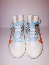 Nike Vapor Untouchable 2 Football Cleats White Teal Dolphins SZ 15 835646-117
