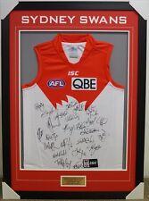 SYDNEY SWANS 2014 AFL TEAM SIGNED FRAMED JUMPER - GOODES,