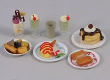 1:6 Scale Miniature Stationery Art Food Rement Plates Dinner Kitchen Dollhouse