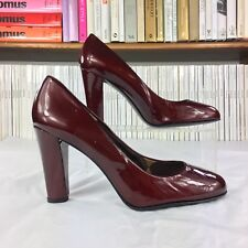 STUART WEITZMAN heels pumps patent burgundy festive UK 6.5 US 9 39.5 40