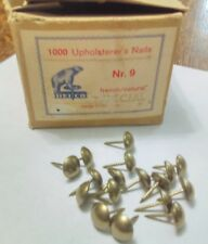 "Partial Box (647) No.9 7/16"" Diameter Heico French Natural Upholstery Nails"