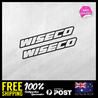 2x WISECO PISTON MEDIUM STICKER DECAL MOTOCROSS MOTOR CYCLE CAR RACING 145x20mm