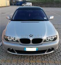 FARI Anteriori Per BMW E46 Coupe + Cabrio 03-06 Fanali con ANGEL EYES Bianchi