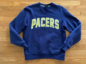 VTG Indiana Pacers New Era Crewneck Sweatshirt Blue City Edition Sz S NBA