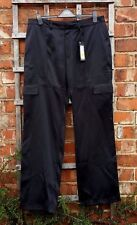 BNWT Marks & Spencer Autograph Black Polyester Satin Trousers (16) RRP £49.50