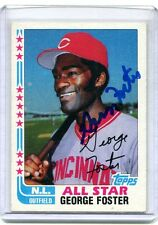 1982 Topps #342 George Foster All-Star Reds Autographed Card w/coa jh4