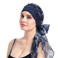 Gifts Women Bandanas Stretch Turban Chemo Hats Headwear Long Hair Head Scarf New