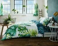 Luxurious Designer Tropical Leaf  Duvet Cover Bedding Set with Pillow Cases