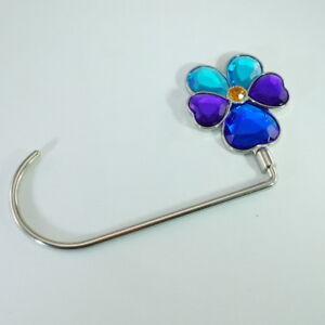 Handbag Purse Hanger Hook Flower Shaped Hanger Hook Holder in BLUE Color