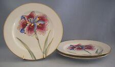 Fitz & Floyd La Belle Fleur Luncheon Plate Lot Of 3 Floral Gold Rim Discontinued