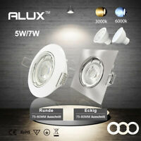 ALUX 6er-set GU10 5W/7W Einbaurahmen 230V Einbaustrahler Einbau Led Einbauspot