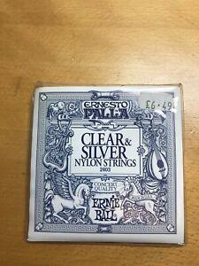 ERNESTO PALLA Nylon Clear Silver Classical 2403 Guitar Strings Ernie Ball