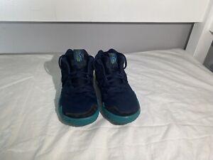 Nike Kyrie 4 (PS) Athletic Sneakers Navy Green Pre-School Boys Size 1Y