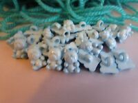 14mm  x 10mm Baby Blue Teddy Bear Buttons on a Shank in Packs of 2, 5 or 10