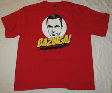 LARGE MENS T-SHIRT THE BIG BANG THEORY BAZINGA PENNY LENARD SHELDON HOWARD TEE!!