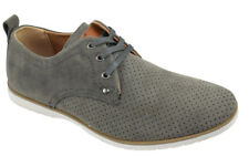 Men's Flat Dress Formal Shoes Lace Up Oxfords Casual ARIDER Gray Suede ALAN-02