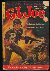 G. I. JOE No. 22 1953 Ziff-Davis War Comic Book CLARENCE DOORE Painted Cover GD-