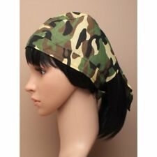 Boys Men Camouflage print Zandana Bandana Durag with ties back Sun Hat Biker Hat