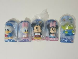 BANDAI Disney bath toys Mickey Minnie Mouse Donald Daisy Duck Alien Green JAPAN
