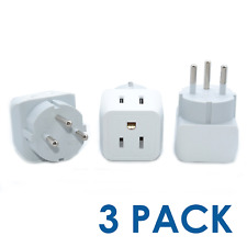 Israel, Palestine Travel Adapter Plug by Ceptics with Dual Usa Input - Type H 3