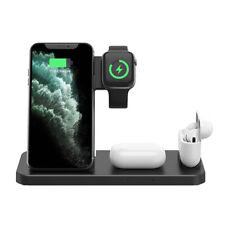 4in1 15W Qi Wireless Charger Dock Stand For iWatch SE/6/5/4/3/2 Samsung S21 S20+
